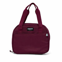 Igloo REPREVE 12 Can Soft Side Lily Lunch Bag Cooler with Carry Handles, Cherry