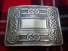TC Uomo Kilt Cintura Fibbia Celtica Swirl ANTICO / celtico Kilt cintura fibbia ANTICO
