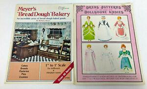 Vtg Dollhouse Books Lot Meyers Bread Dough Dress Patterns for Dollhouse Ladies
