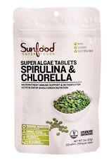 Sunfood Superfoods Super Algae Spirulina  And Chlorella Tablets 2 oz