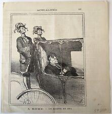 Lithographie, Daumier, A Rome - Un martyr en 1871, Actualités, LD3880