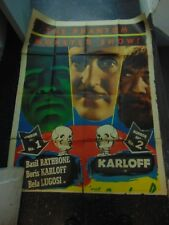 Boris Karloff Son Of Frankenstein Bride Of Frankenstein Combo Movie Poster N1683