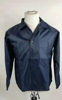 Augusta Sportswear Adult Size Medium Button Nylon Coach's Jacket Lined Navy Blue
