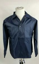 Augusta Sportswear Adult Size Medium Button Nylon Coach's Jacket Lined Navy Blue