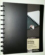 "Black Caliber Premium Refillable Discbound Notebook 8.5 x 11"" Poly 60 Sheets"