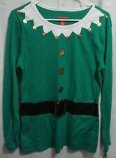 TARGET NWT Green ELF Long Sleeve Sleep Shirt Ladies Sz L