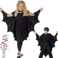 Kids Vampire Bat Wings Halloween Cape Child Girls Boys Fancy Dress Costume New