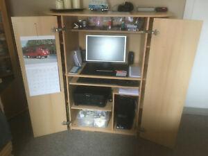 Computerschrank PC - Schrank Büroschrank - Buche - Top Zustand!!!