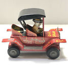 OLD JALOPY Car Tin Toy Vintage Rare Red COLLECTIBLE Japan Cowboy Auto Linemar