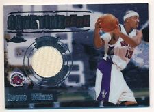JEROME WILLIAMS 2003/04 TOPPS CHROME GAME TIME GEAR RAPTORS RELIC JERSEY SP
