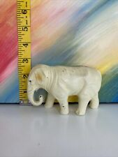 Vintage Celluloid White Elephant Animal Figurine
