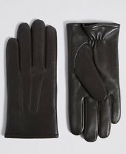 NEW MENS GENUINE LEATHER GLOVES THERMOWARMTH BROWN SIZE LARGE MARKS & SPENCER
