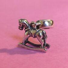 New Genuine Pandora ROCKING HORSE Charm 791413 Retired  New Baby Gift birth
