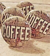 "Handmade Knob Drawer Pull, Coffee Cappuccino Espresso Distressed Style Knob 1.5"""