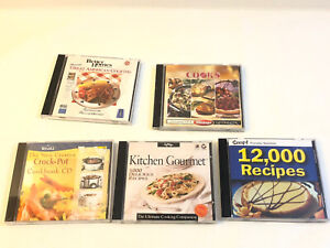 Lot Of 5 Cd Rom Cooking World American Chief Recipes 19,000+ PC Windows 95 XP