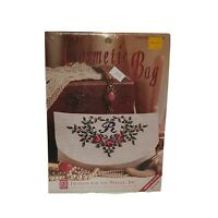 Designs for the Needle Monogram Cosmetic Bag Counted Cross Stitch Kit 7305 Roses
