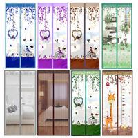 Fliegennetz Fliegengitter Tür Türvorhang mit Magnet Schließsystem Moskitonetz DE