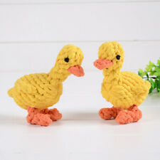 Dog Bite-resistant Toys duck Shape Chewing Cotton Rope Handle Knot Pet Suppl G3