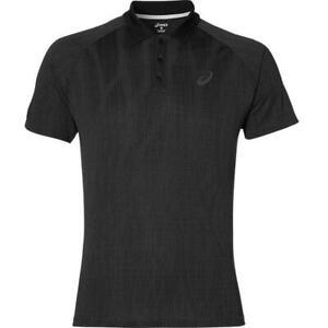 Asics Men's Polo Shirt Club GPX Short Sleeve Tennis Polo - Black - New