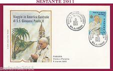 W500 VATICANO FDC ROMA GIOVANNI PAOLO II WOJITYLA VISITA PANAMA  1983