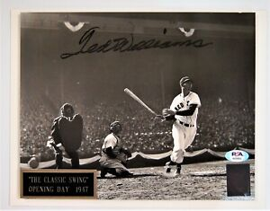 """Ted Williams Boston Red Sox 8x10 Signed Photo """"The Classic Swing"""" PSA/DNA LOA"""
