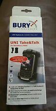 .Bury Cradles Take Talk BT System 8 Phones Holder BlackBerry 8900 Bluetooth New
