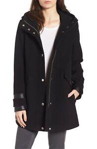"Marc New York by Andrew Marc Womens Ally 30"" Wool Plush Coat Black Sz 6"
