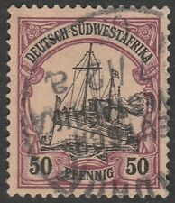 German South West Africa (Namibia) 1906 50 Pfennig, Kaiser Wilhelms Yacht (Used)