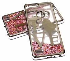 For ZTE SEQUOIA / BLADE Z MAX Z982 - SILVER LOVE Pink Glitter Star Liquid Case