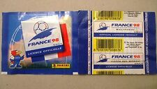 BUSTINA PACKET PACK PANINI FIFA W.C. FRANCE 98 BARCODE GIALLO/YELLOW BARCODE