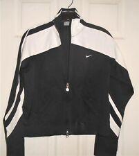 Nike Women's Zip Track Jacket Black/White Size XS (0-2) NEW