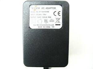 1000ma 16v AC-AC (AC Output) Mains Power Adaptor/Supply/Transformer 1a 16va 16w