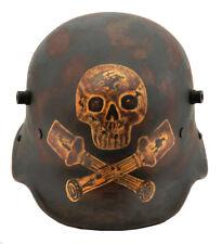 GERMAN WW1 M1916 M16 STAHLHELM HELMET Stormtrooper Sturmtruppen Skull Hand Aged