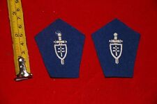 FREE FRENCH FRANCE LIBRE PATTES DE COL COLLAR BADGES FEMMES FEMALE BLUE W WW2