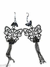 dangle earrings with butterfly and chain drop new costume jewellery