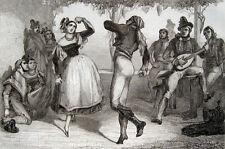 Flamenco Tanz Spanien 1840 Tänzer España danza spanish dance