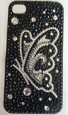 Diamonte Butterfly on Black Design Sticker for Apple iPhone 4/4G/4S Phone Decal