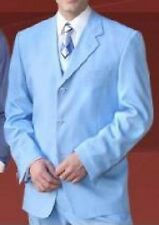 Men's Basic Suit Sky Blue Color (comes with pants) All Sizes 38-60  Style 802P