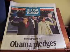 USA TODAY NEWSPAPER..JAN 21, 2009..OBAMA INAUGURAL