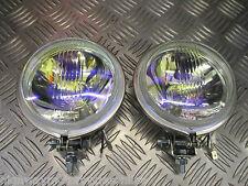 """LAMBRETTA S3 Li TV SX GP RAINBOW HALOGEN 12V 4&1/2"""" SPOT LAMP LIGHT PAIR QUALITY"""