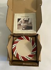 Longaberger Pottery Peppermint Twist Coasters (set of 4) #31875, New In Box
