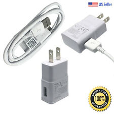 Samsung Galaxy S7 Edge S6 Note 4 5 Fast Rapid Wall Charger USB Charging Cable