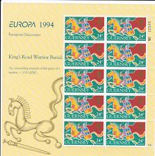 Guernsey 1994 Europa European Discoveries 24p stamps Full Sheet MNH