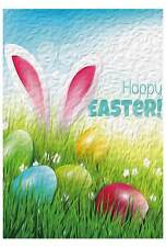 "12X18"" Happy Easter Mini-Garden Mailbox Flag Home Decor Garden Flag Oil painting"