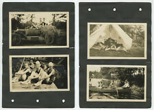 BOY SCOUTS + BATHING BEAUTIES - SET OF 4 PHOTOS FROM 1932