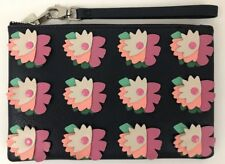NWT Fossil Medium Wristlet Midnight Navy Floral  SLG1125406