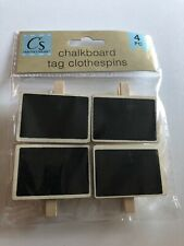 Crafters Square Chalkboard Tag Clothespins-4 Pieces New