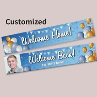 Custom Gift Present Party Balloon Welcome Home Back Hanging Banner Decorations
