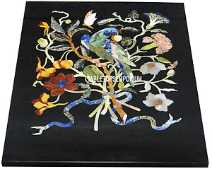 "14""x18"" Industrial Marble Coffee Table Mosaic Inlay Birds Art Living Room Decor"