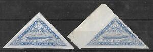 PARAGUAY 1932 Mint NH 4 P Ultramarine ZEPPELIN Set of 2 Michel #398 MISPERF!